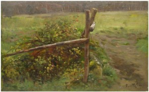 The barrier , about 1883 , private collection.